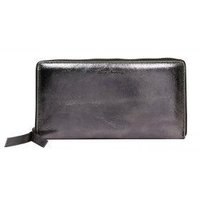 Andrens dámská kožená metalická peněženka Stříbrná