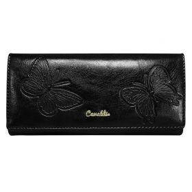 Cavaldi kožená peněženka Butterfly Černá