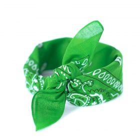Šátek Bandana Classic rebel hráškově zelený