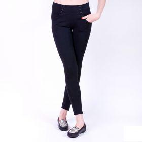 Dámské bavlněné černé legínové kalhoty
