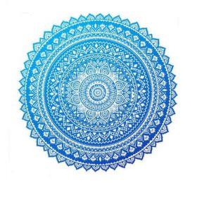 Kruhový Plážový ručník Boho Mandala