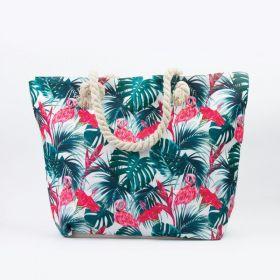 Plážová i nákupní taška zelené Palmy