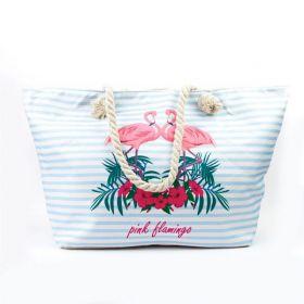 Plážová i nákupní taška Plameňáci pod palmou