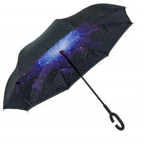 Dámský holový oboustranný deštník Vesmír