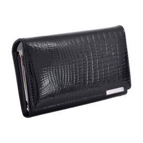 Jennifer Jones dámská kožená střední peněženka Černá