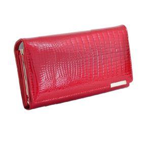 Jennifer Jones dámská kožená dlouhá peněženka Červená
