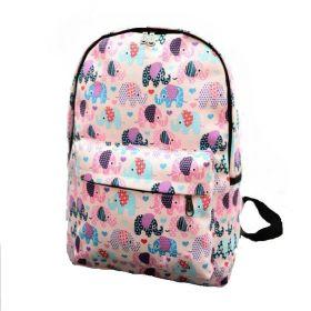 Plátěný batoh se slůňaty Růžový