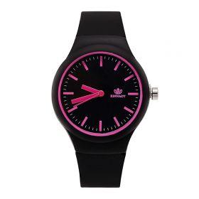 Dámské silikonové hodinky Jely Lady černé
