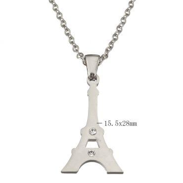 Souprava šperků z chirurgické oceli Eiffelovka