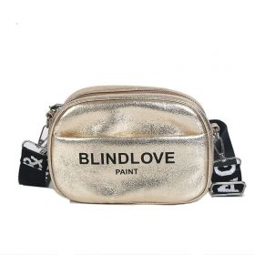 Crossbody metalická kabelka BLIND Zlatá