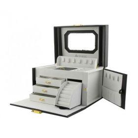 Stenberg Luxusní kufřík na šperky ETUI Černá