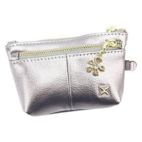 Milano Design dámská peněženka Flower stříbrná