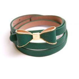 Dámský pásek s mašlí Zelený