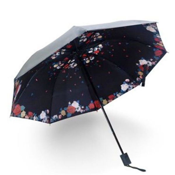 Dámský skládací deštník Růžičky