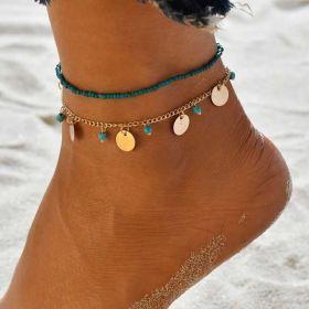 Dámský Set Boho náramků na nohy Korálky