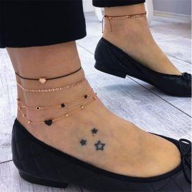 Dámský Set Boho náramků na nohy Srdce