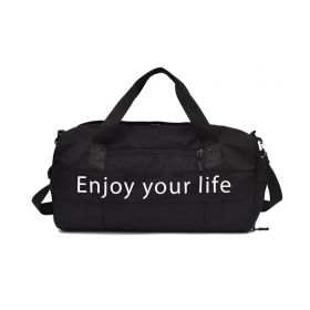 Cestovní taška Travel Enjoy LIFE Černá