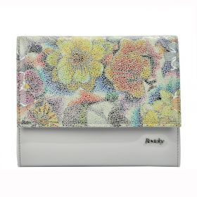 Rovicky elegantní kabelka Flower šedá