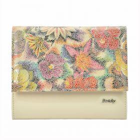 Rovicky elegantní kabelka s Flower Béžová