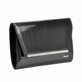 Rovicky elegantní lakovaná kabelka Leona Černá