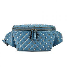 Glamour koženková ledvinka s Cvoky Modrá