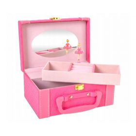 Hrací šperkovnice s balerínou Růžová