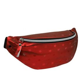Cavaldi dámská metalická ledvinka STAR červená