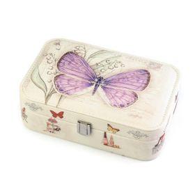 Šperkovnice se zrcátkem s motýlem 22cm