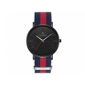TOM SAINTZ hodinky s nylonovým páskem Granát