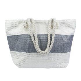 Designová Plážová taška Šedý pruh