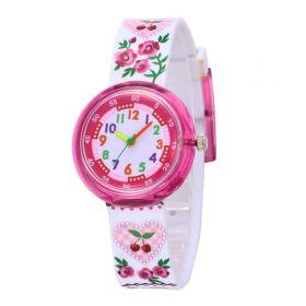 Dívčí silikonové hodinky Růženka