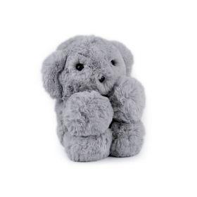 Kožešinový dětský batůžek Šedý medvídek