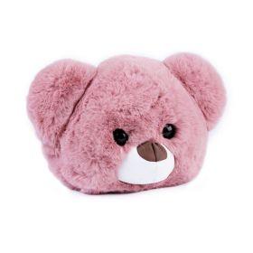 Kožešinová dětská kabelka Růžový medvídek