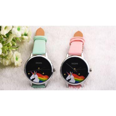 Oktime Dívčí hodinky UNICORN  jednorožec Bílé