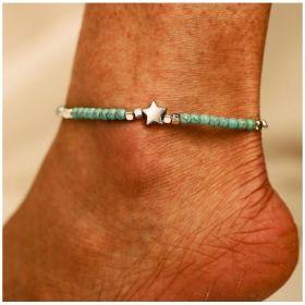 Dámský náramek na nohu STAR