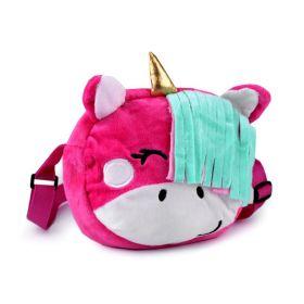 Dětská plyšová kabelka jednorožec Růžový