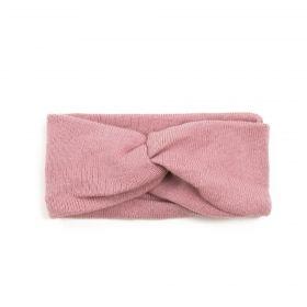 Dámská pletená čelenka Růžová