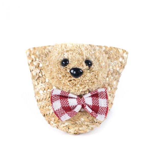Dětská slaměná kabelka Teddy bear