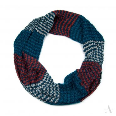 ArtOfPolo kruhový tunelový pletený šál Červený