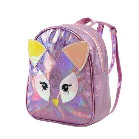 Dívčí Holografický batůžek Růžová šelmička