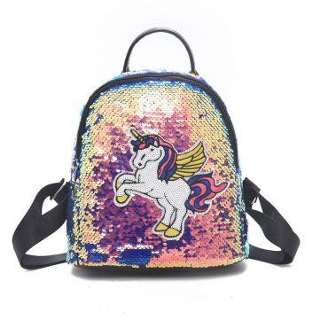 Dívčí flitrový batůžek Neon Jednorežec