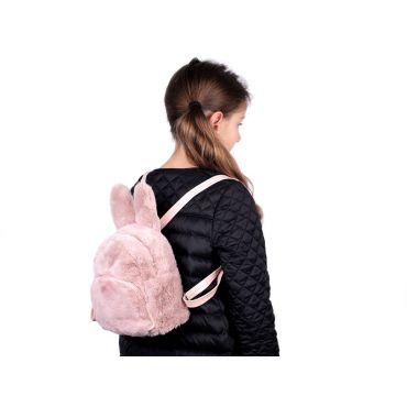 Dívčí střední chlupatý batůžek Králiček Růžový
