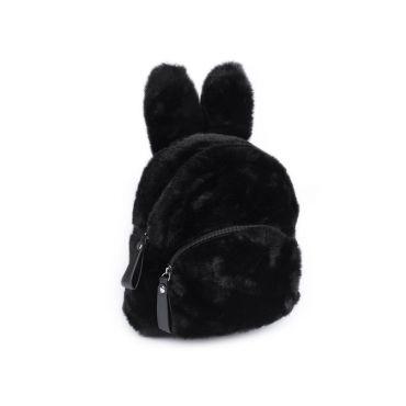 Dívčí střední chlupatý batůžek Králiček Černý