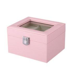Box na šperky organizér Růžový
