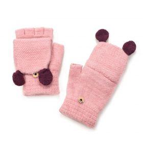 Bezprstové rukavice s klapkou Liverpool Růžové