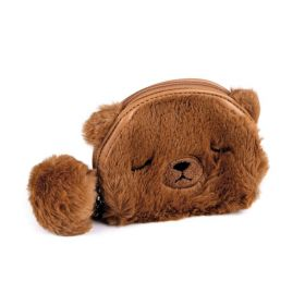 Dětská kožešinová peněženka Medvídek hnědý