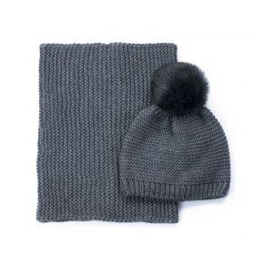 Dámský set čepice a šála Hello winter