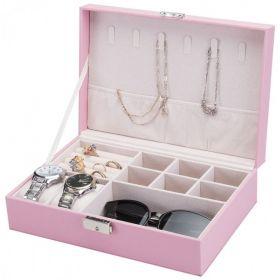Šperkovnice na šperky,hodinky i brýle Růžová
