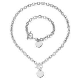 Sada šperků z oceli se Srdíčkem Stříbrná