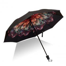 Dámský skládací deštník Barevný květ